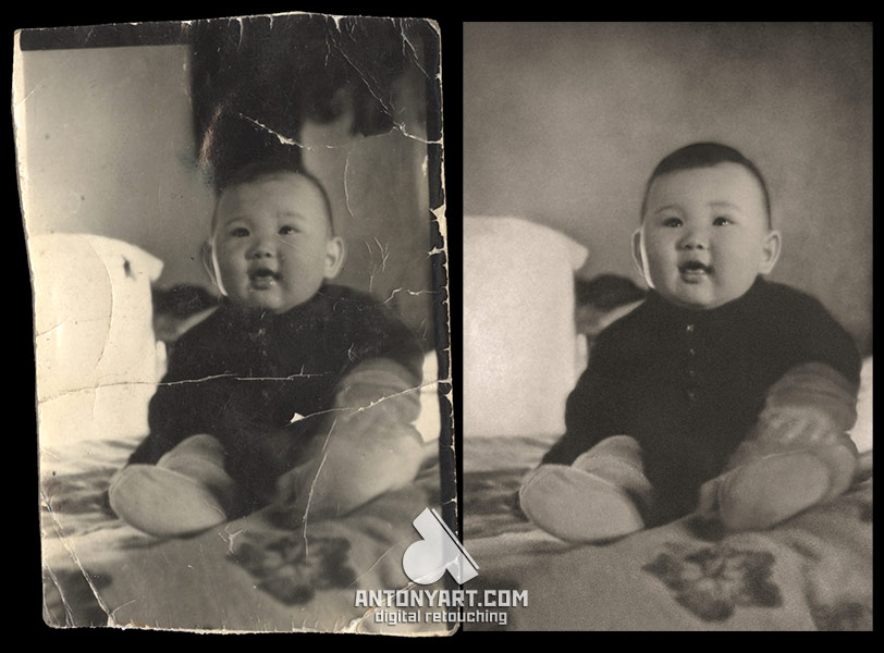Restore a damaged child photo