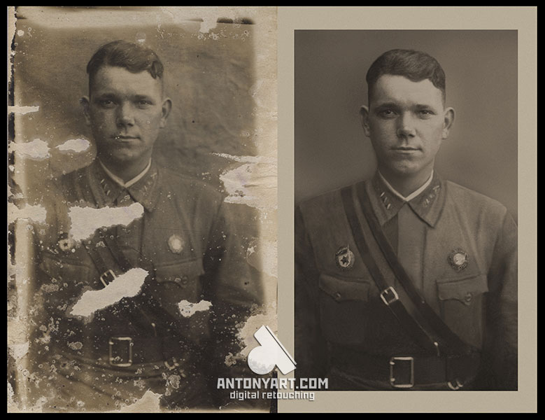 military portrait restoration