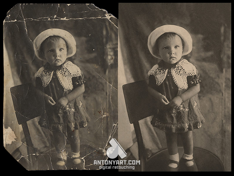 restoration of an old photo